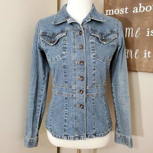Axcess by Liz Claiborne Fitted Jean Jacket